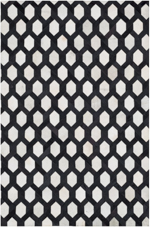 Designer Series 17034 Leland Hairhide Black/White Closeout Rug