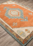 Jaipur Preston PRS01 Saratoga Apricot Orange & Adriatic Blue Area Rug