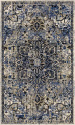 Karastan Tempest 91986 D9339 Perception Cobalt Area Rug