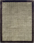 Bashian Greenwich R129 HG202 Ratna with Art Silk Grey Closeout Area Rug