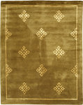 Bashian Greenwich R129 HG204 Ratna with Art Silk Camel Closeout Area Rug