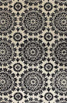 Bashian Greenwich R129 HG252 Ratna with Art Silk Ivory/Black Closeout Area Rug
