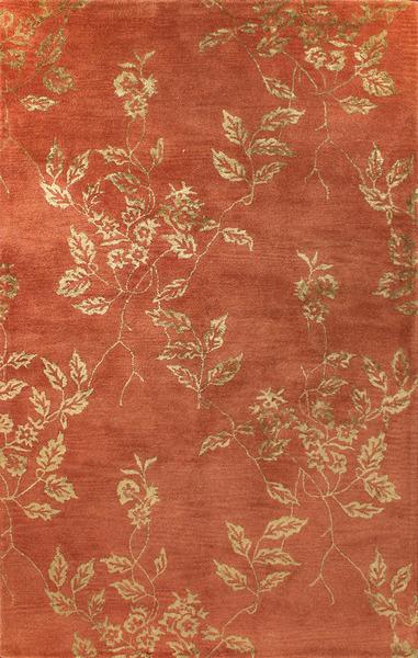Bashian Greenwich R129 Hg271 Ratna With Art Silk Paprika