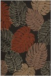 Nourison Rainforest RAI02 BLK Black Closeout Area Rug
