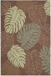 Nourison Rainforest RAI02 MOC Mocha Closeout Area Rug