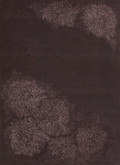 Calvin Klein Home Reflective REF02 MULBE Etched Flower Mulberry Closeout Area Rug