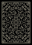 Nourison Home & Garden RS019 BLK Black Area Rug