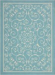 Nourison Home & Garden RS019 LTB Light Blue Area Rug
