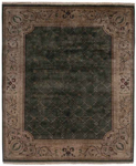 Kalaty Riviera RV-615 Medium Green/Ivory Closeout Area Rug