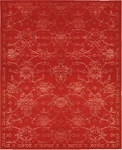 Nourison Silk Infusion SIF01 RED Red Closeout Area Rug