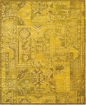 Nourison Silk Infusion SIF02 YEL Yellow Closeout Area Rug