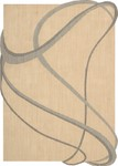 Nourison Silhouettes SIL03 BGE Beige Closeout Area Rug