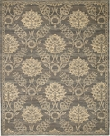 Nourison Silk Elements SKE31 GRAPH Graphite Area Rug