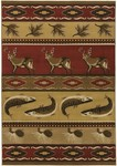 Surya Dick Idol Big Sky SKY-5001 Red/Gold Closeout Area Rug - Spring 2012