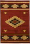 Surya Dick Idol Big Sky SKY-5007 Red/Gold Closeout Area Rug - Spring 2012