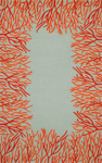Trans-Ocean Liora Manne Spello 2173/17 Coral Border Orange Closeout Area Rug