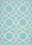 Nourison Waverly Sun N' Shade SND02 AQUAM Aqua Marine Closeout Area Rug