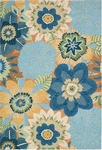 Nourison South Beach SOU03 AQU Aqua Closeout Area Rug - Spring 2016