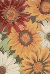 Nourison South Beach SOU06 SUNFL Sunflower Closeout Area Rug - Spring 2016