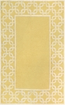 Trans-Ocean Liora Manne Spello 2142/29 Chain Border Yellow Closeout Area Rug