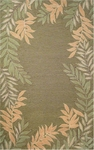 Trans-Ocean Liora Manne Spello 1918/06 Fern Border Green Closeout Area Rug