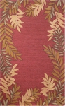 Trans-Ocean Liora Manne Spello 1918/24 Fern Border Red Closeout Area Rug