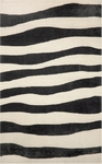 Trans-Ocean Liora Manne Spello 2116/48 Wavey Stripe Black Closeout Area Rug