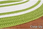 Surya Country Living Seaside Stripes SSD-7502 Lime/White Closeout Area Rug - Spring 2012