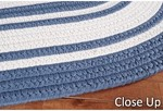 Surya Country Living Seaside Stripes SSD-7504 Federal Blue/White Closeout Area Rug - Spring 2012