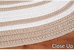 Surya Country Living Seaside Stripes SSD-7505 Tan/White Closeout Area Rug - Spring 2012