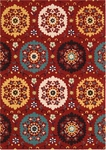 Nourison Suzani SUZ01 RED Red Closeout Area Rug
