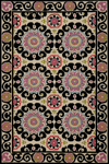 Momeni Suzani Hook SZI-1 Black Closeout Area Rug