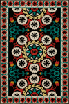 Momeni Suzani Hook SZI-2 Black Closeout Area Rug