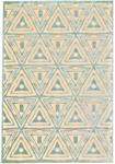 Feizy Saphir Mah 3252F Cream-Spa Blue Closeout Area Rug