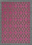 Feizy Saphir Rubus 3361F Dark Grey/Raspberry Closeout Area Rug