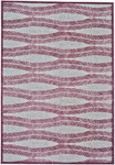 Feizy Saphir Rubus 3371F Pewter/Raspberry Closeout Area Rug