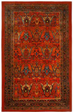 Karastan Antiquity ZS006 A400 Susa Red Area Rug