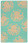 Trans-Ocean Liora Manne Terrace 1784/93 Octopus Turquoise Closeout Area Rug