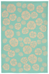 Trans-Ocean Liora Manne Terrace 1790/93 Shell Toss Turquoise Area Rug
