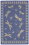 Trans-Ocean Liora Manne Terrace 1791/33 Dragonfly Marine Area Rug