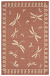 Trans-Ocean Liora Manne Terrace 1791/74 Dragonfly Terracotta Area Rug