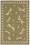 Trans-Ocean Liora Manne Terrace 1791/76 Dragonfly Green Area Rug