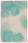 Trans-Ocean Liora Manne Terrace 1792/73 Palm Turquoise Area Rug