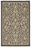 Trans-Ocean Liora Manne Terrace 1794/77 Scroll Vine Charcoal Closeout Area Rug