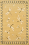 Trans-Ocean Liora Manne Terrace 1746/59 Dragonfly Yellow Closeout Area Rug