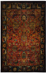 Karastan Antiquity ZS001 A400 Tehran Red Area Rug