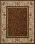 Nourison Vallencierre VA27 BRN Brown Closeout Area Rug
