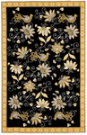 Marcella Vera Bradley Indoor/Outdoor VBO001B Yellow Bird Black Outdoor Closeout Area Rug