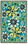Marcella Vera Bradley Indoor/Outdoor VBO003A Daisy Daisy Closeout Area Rug