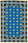 Marcella Vera Bradley Indoor/Outdoor VBO008A Rivera Blue Outdoor Closeout Area Rug